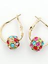 Cercei Picătură Cristal La modă European Ștras Placat Auriu 18K de aur imitație de diamant Austria cristal Auriu Culoare ecran Bijuterii