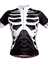 Wosawe® Maillot de Cyclisme Unisexe Manches courtes Velo Respirable Sechage rapide Poche arriere Anti-transpiration Maillot Hauts/Tops