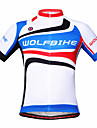 WOLFBIKE® Cykeltröja Herr Kort ärm Cykel Andningsfunktion / Snabb tork / Back PocketCollegetröja / Träningsoverall / underställ /