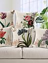 set om 5 land stil blommor mönstrade bomull / linne dekorativa kuddöverdrag