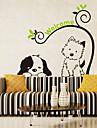 vägg klistermärken väggdekaler stil tecknad hund katt pvc väggdekorationer