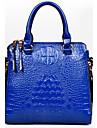 Femme Polyurethane / Cuir Verni Formel / Decontracte / Bureau & Travail / Shopping Sac a Bandouliere / CabasBlanc / Violet / Bleu / Jaune