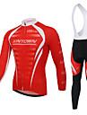 XINTOWN® Cykeltröja med Bib-tights Herr Lång ärm Cykel Andningsfunktion / Fuktgenomtränglighet / Reflexremsa / Back PocketCykeltröja och