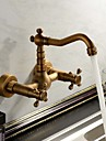 American Standard Wall Mounted Two Handles Three Holes in Antique Copper Bathroom Sink Faucet