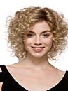 courts perruques synthetiques blonds boucles capless de haute qualite