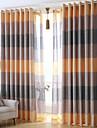 Deux Panneaux Le traitement de fenetre Moderne , Rayure Chambre a coucher Lin Materiel Rideaux occultants rideaux Decoration d\'interieur