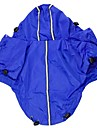 Cat / Dog Rain Coat / Clothes/Clothing Red / Black / Blue / Purple Spring/Fall Solid Waterproof