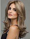 melange blonds longs ondules perruque frisee de femmes de la mode
