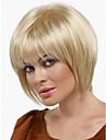 ny peruk värmetålig mode kort ljusblond raka kvinnor peruk