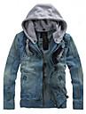 Bărbați Capișon Jachetă Zilnice Dată Vacanță Simplu Șic Stradă,Altele Manșon Lung Toamnă Iarnă-Regular N/A