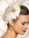 handgjorda bröllops fjäder hår klipp fascinator stycken Fascinators 049