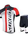 Arsuxeo® Cykeltröja med shorts Unisex Kort ärm Cykel Andningsfunktion / Snabb tork / Anatomisk design / YKK-dragkedja / Back PocketArm