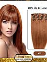 """18 """"de la lumiere auburn (n ° 30) clip en extensions de cheveux humains remy"""