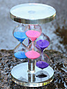 tre färg kristallglas timglas hantverk heminredning prydnadsföremål