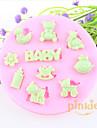 chevaux de Troie Baby Bear fondant moules en silicone gateau au chocolat, des outils de decoration ustensiles de cuisson