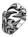 Inel Teak Oțel titan La modă Argintiu Bijuterii Halloween Zilnic Casual Sport 1 buc