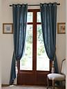 Deux Panneaux Le traitement de fenetre Rustique / Moderne / Neoclassique / Europeen / Designer , Solide Salle de sejour Melange Lin/Coton