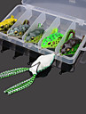 5pcs Frogs Soft Baits 60MM 12g Water Surface Fishing Lures with Two Hook