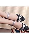 Chaussures de danse(Noir Bleu Rouge Argent Autre) -Non Personnalisables-Talon Cubain-Satin Similicuir Cuir Verni Synthetique-Moderne