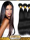 mongoliska jungfru rakt hår väva naturligt svart 8-30 tum 1st / lot 100g per bunt rå obearbetat hår inslag