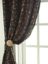 Två paneler Fönster Behandling Rustik Nyklassisistisk Designer Sovrum Polyester/Bomull Blandning Material gardiner draperier