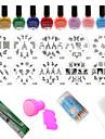 24Pcs/Set Polish Print Nail Image Plate Stamper Scraper Set DIY Manicure Tools
