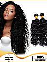 3st brasilianska hårknippena väver kolsvart djupa curl hår väver 100% obearbetat brasiliansk weft