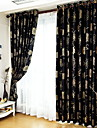 Two Panels European Fashion Silver Pressed Jacquard Window Large Flowers Curtains Drapes
