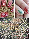 Tecknat / Abstrakt / Vackert - Finger - 3D Nagelstickers - av Andra - 30 - styck 6.5X5X0.5 - cm