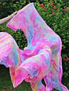 New Belly Dance 100% Real Silk Fan Veils Belly Dance Hot Tie Dyed Colors Silk Fans 2pcs/L+R