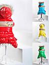 Chat Chien Manteaux Pulls a capuche Combinaison-pantalon Rouge Jaune Vert Bleu Vetements pour Chien Hiver Printemps/Automne Couleur Pleine