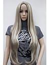 longues dames de nouvelles femmes brun mix cheveux blonds naturelle pleine peau de perruques partie superieure