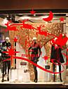 Djurtryck Modern Fönsterklistermärke Material fönster~~POS=TRUNC