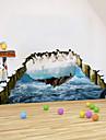 3d klistermärken arktisk pingvin pvc väggdekorationer Väggdekaler