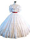 Steampunk®Civil War Southern Belle Ball Gown Dress White Victorian Dress Halloween Party Dress