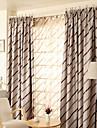 Två paneler Fönster Behandling Medelhavet Rustik Modern Nyklassisistisk Sovrum Polyester Material Mörkläggning Gardiner draperier
