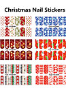 5pcs Christmas Watermark Stickers Random Color