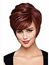 Capless kort hög kvalitet syntetisk lockigt hår peruk bäst sälja