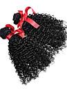 peruanska lockigt hår vävning förlängningar 7A naturliga färg jungfru människohår 2 bunt peruanska högsta kvalitet 100g / st
