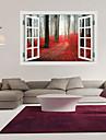 Botanisk / Tecknat / Romantik / Fashion / Landskap / Former / 3D Wall Stickers Väggstickers i 3D , PVC 90cm x 60cm( 35in x 24in )