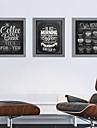 Abstrakt / Landskap / Stilleben / Arkitektur Inramat set Wall Art,Polystyren Grå Passepartout inkluderad med Frame Wall Art