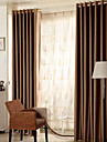 (Two Panels)Modern Triple Layer Faux Silk Polyester High Efficient Blackout Curtain(Sheer Not Included)