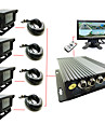 Four Car Cassette 4-way SD Truck Car Video Recorder High-definition Monitor Host D1 logistics Car Bus Travel Video DVR
