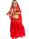 Belly Dance Outfits Women\'s Performance Spandex / Polyester Beading / Gold Coins / Paillettes 5 Pieces 4 Colors