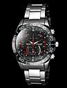 Men\'s Casual Silver Alloy Quartz Wrist Watch