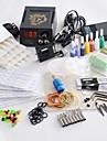 roterande tatueringsmaskin kit ledde nätaggregat 20 nålar 8 tips stål 7 färgbläck in varm