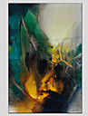 Peint a la main Paysages AbstraitsStyle europeen / Modern Un Panneau Toile Peinture a l\'huile Hang-peint For Decoration d\'interieur