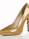 Women\'s Shoes Leather Stiletto Heel Heels / Pointed Toe Heels Wedding / Party & Evening / Dress Gold