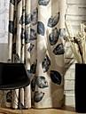 Deux Panneaux Le traitement de fenetre Rustique Moderne Neoclassique , Feuille Chambre a coucher Melange Poly/Coton MaterielRideaux