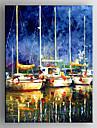 HANDMÅLAD Abstrakta landskapModerna En panel Kanvas Hang målad oljemålning For Hem-dekoration